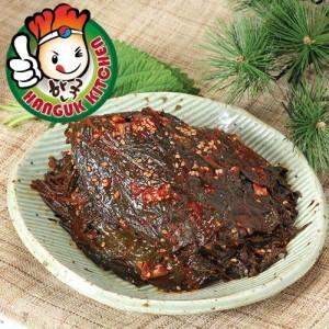 Traditional Korean Banchan Kaetnip Seasoned Sesame Leaf (Perilla Leaves) 400g