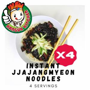 590g Instant Jjajangmyeon X4 Packs