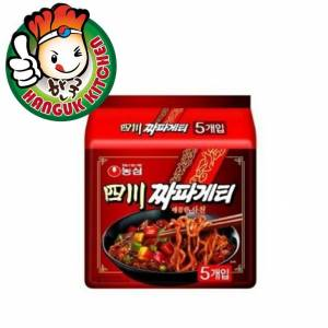 Chapaghetti Sachun Jjajang Noodles SPICY Korean Ramen (5 Packets) 137g Nongshim Hanguk Kitchen Korean Food Mart