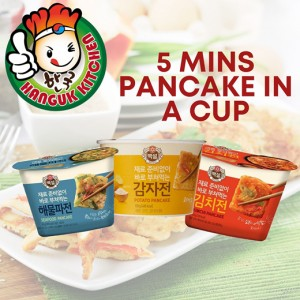 5 Mins Ready-to-Cook Korean Assorted Jjeon Pancake in a Cup Baeksul