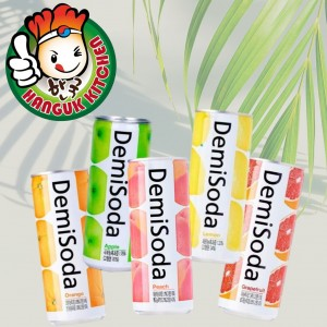 Assorted Korean Soft Drink Demisoda 250ml (30 Cans / 1 Carton)