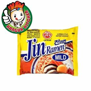 Imported Jin Ramen Mild (Single Packet) 120g Ottogi Hanguk Kitchen Korean Food Mart