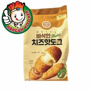 Imported Korean Crispy Corndog -Mozzarella Cheese with Fish Sausage 400g