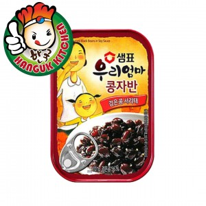 Korean Canned Braised Black Bean in Soy Sauce 70g