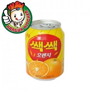 SacSac Orange Juice with Coconut Jelly Popular Korean Beverage 238ml