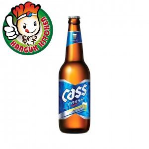 Popular Korean Cass Beer 330ml (Bottle)